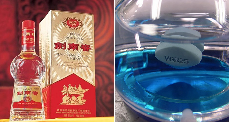 Interesting fact: Chinese therapists decided to add Viagra into alcohol